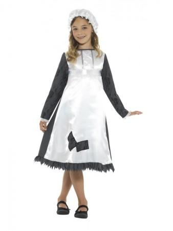 Kids Olden Day School Miss Historical Book Week Costume