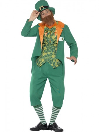 Sheamus Craic Lucky Leprechaun Costume Irish St Patricks Day Party & Hat CS43400_1