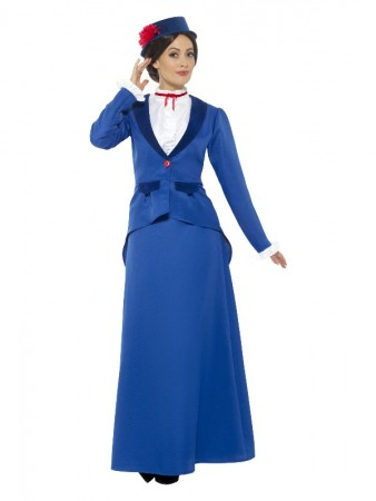 Victorian Nanny Costume, Blue with Jacket