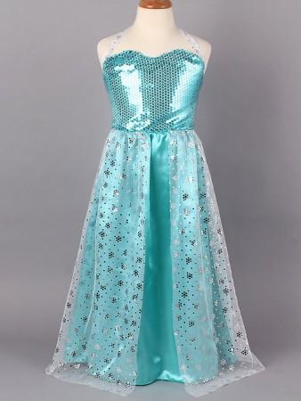 Frozen Costumes - Girl Dress Disney Frozen Elsa Party Birthday Fancy Costume Dress
