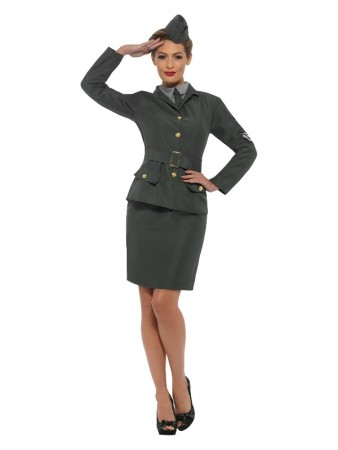 WW2 Army Girl Uniform Costume cs47383