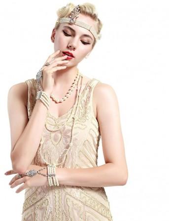 Pearl 20s Headband Vintage Great Gatsby Flapper Headpiece
