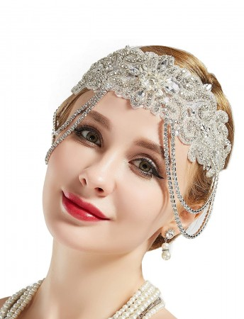 1920s Crystal Great Gatsby Flapper Headpiece