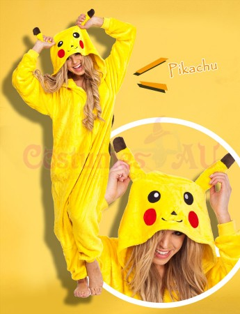 Onesies & Animal Costumes Australia - Pikachu Onesie Animal Costume