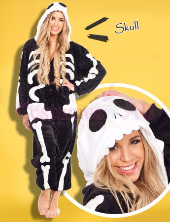 Onesies & Animal Costumes Australia - Skull Onesie Animal Costume
