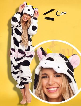 Onesies & Animal Costumes Australia - Cow Onesie Animal Costume