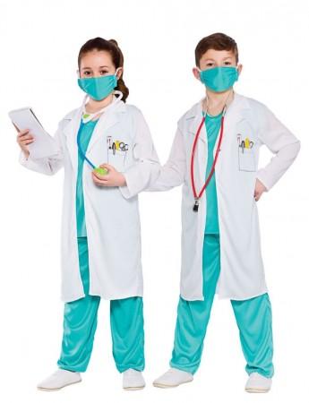 white kids doctor nurse costume vb4002_3