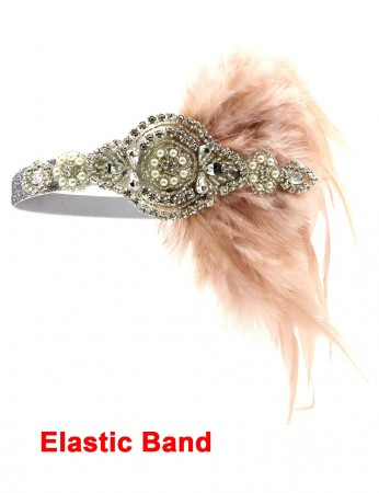 1920s Headband Feather Flapper Headpiece ladies