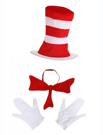 Dr Seuss Stripe Cat in the Hat Costume Kits pp1015