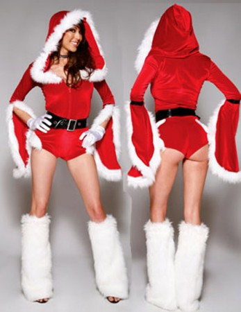 Santa Claus Christmas Costumes - Santa Claus Christmas Helper Fancy Dress Costume Xmas Party Outfit