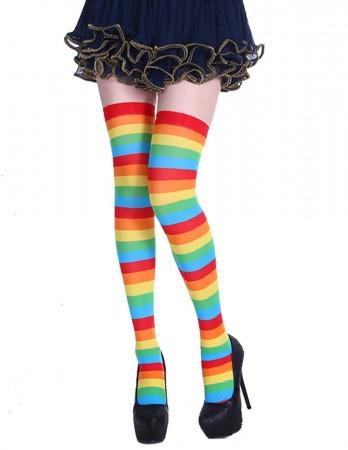 Acrylic Rainbow Thigh Highs