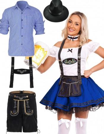 Couple Blue Oktoberfest German Beer Costume  lh220blg204bluelh999