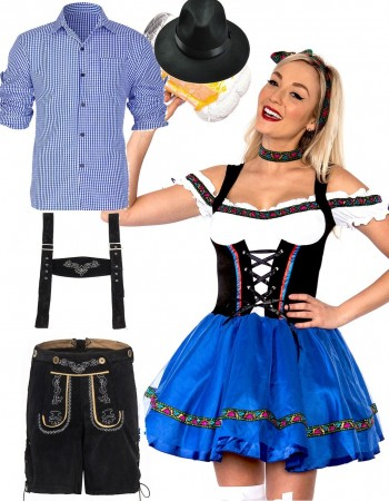 Couples Oktoberfest Beer Maid Wench Costume lh220blh188lh999