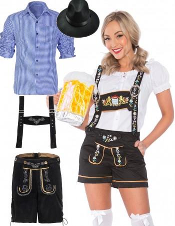 Couples Mr. and Mrs. Oktoberfest Lederhosen Costumes lh220blh304lh999