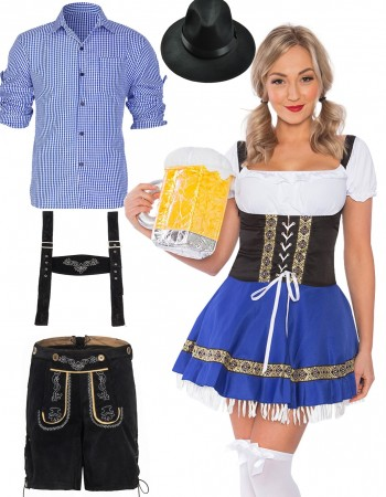 Couple Oktoberfest Beer Maid Vintage Costume lh220blh301blh999