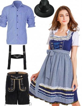 Couple Oktoberfest Beer Maid Wench Costume lh220blh320lh999