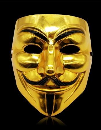 golden V For Vendetta Mask lx2025-3