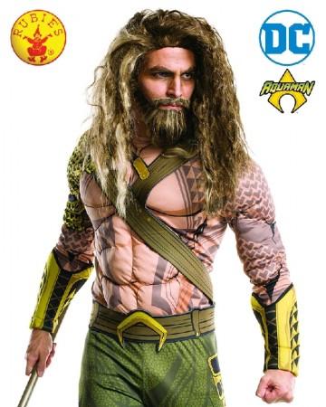 Aquaman Wig and Beard Set Justice League Superhero Mens Costume Kit
