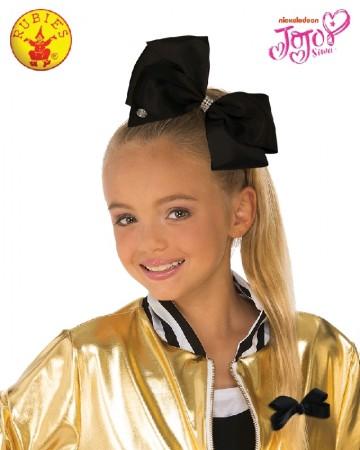 Black JoJo Siwa Large Teal 8inch Bow with Rhinestones & Pin Child Girls