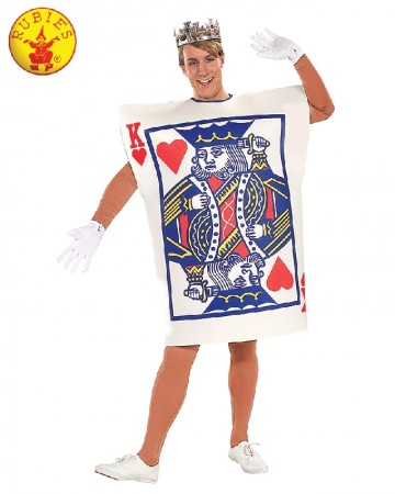Mens King Of Hearts Alice Poker Playing Card Halloween Costume