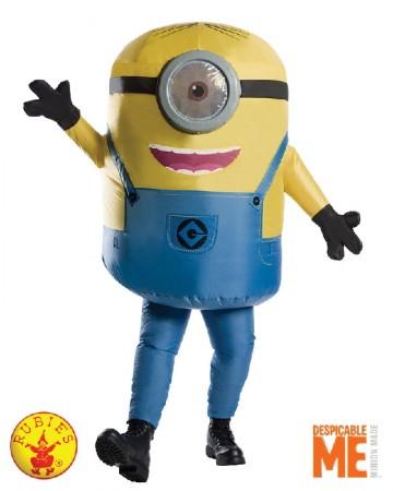 adult Inflatable Minion Stuart Despicable Me mens Halloween Blowup costume