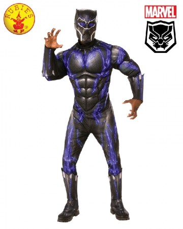 Adult Mens Deluxe Black Panther Civil War Deluxe Costume Mask Halloween Party