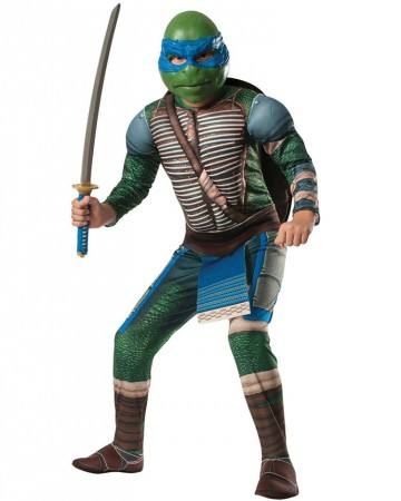 Movie/TV/Cartoon Costumes - TV Show TMNT Teenage Mutant Ninja Turtles Costume Licensed Rubie's Leonardo Blue