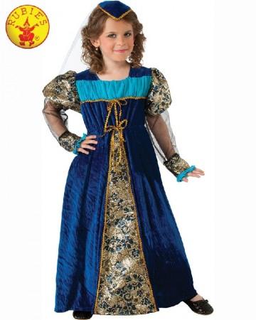 Girls Camelot Princess Kids Medieval Child Halloween Dress Party Costume