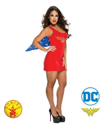 Ladies Wonder Woman Revenge Superhero Girl Fancy Dress Costume