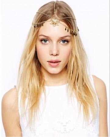 Bohemian Deco Vintage Headband Wedding Boho Goddess