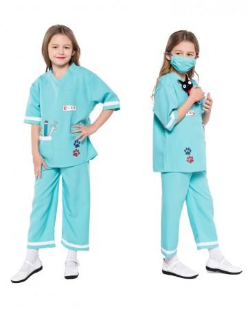 Child Nurse Doctor Girls Hospital Vet Book Week Kids Dress Costume Outfit