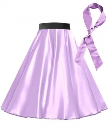 Light Purple Satin 1950's Rock n Roll Style 50s skirt