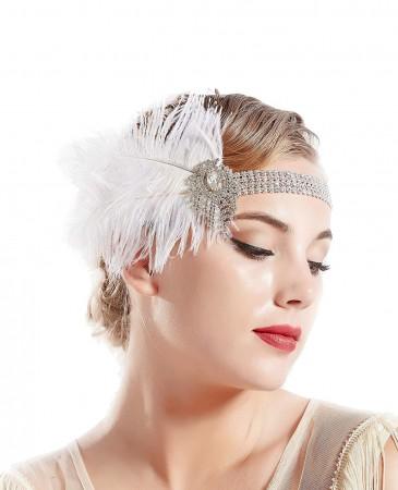 1920s Feather Headband