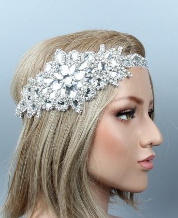 1920s Vintage Crystal Great Gatsby Flapper Headpiece