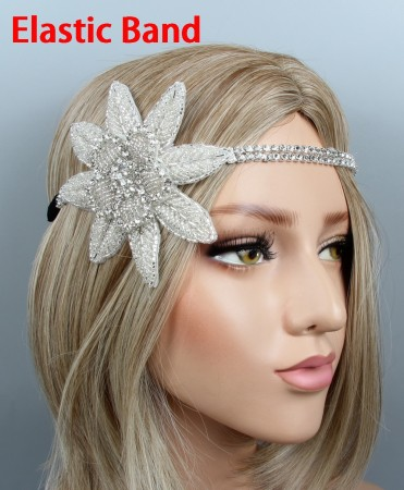 Ladies 1920s Gangster Feather Great Gatsby Flapper Headpiece