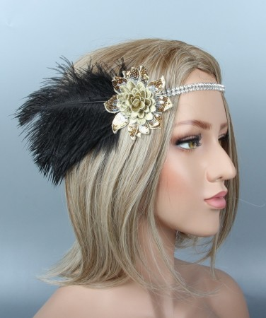 1920s Floral Great Gatsby Flapper Headpiece