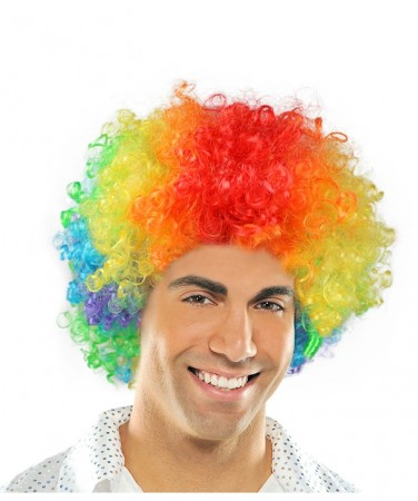 Funky Rainbow Unisex Afro Wig