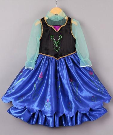 Frozen Costumes - Girl Dress Disney Frozen Anna Party Birthday Fancy Costume Dress