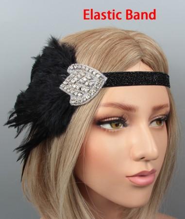 Flapper Headband Feather Great Gatsby Headpiece