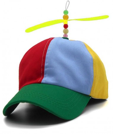 Adult Propeller Beanie Ball Cap Baseball Hat Multi-Color Clown Adjustable Costume Accessory