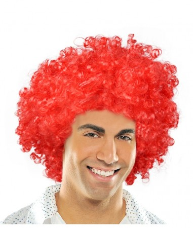 Funky Red Unisex Afro Wig