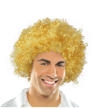 Funky Yellow Unisex Afro Wig