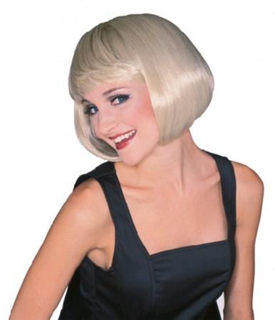 Wigs - Ladies Blonde Short Supermodel Bob Fancy Dress Costume Babe Wig