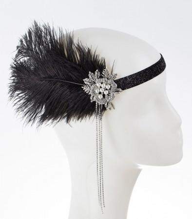 20s feather headband