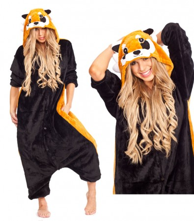 Onesies & Animal Costumes Australia - Raccoon Onesie Animal Costume