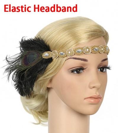 1920s Gangster Great Gatsby Flapper Headpiece