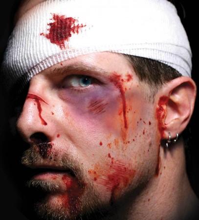 Men's Halloween Trauma Intensive Care Scary Face Temporary Tattoo