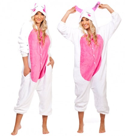Onesies & Animal Costumes Australia - Love Rabbit Onesie Animal Costume