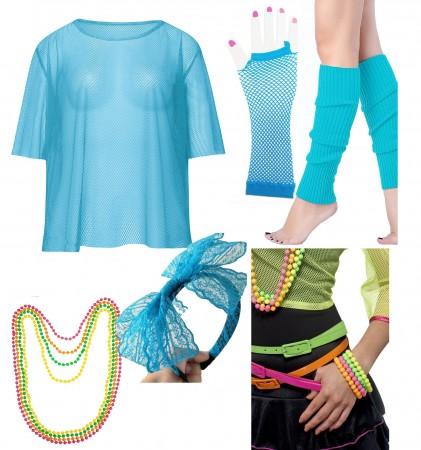 Blue 1980s Costume