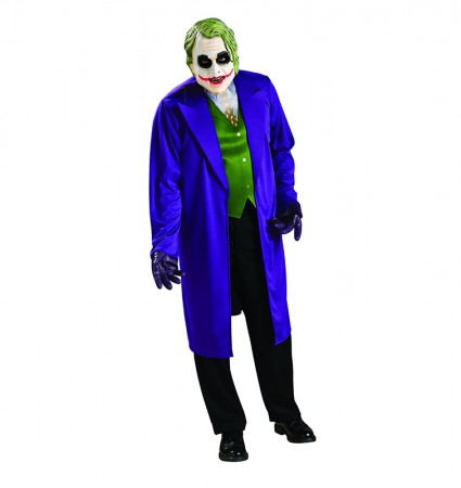 Mens Batman Dark Knight The Joker Grand Heritage Collection Fancy Costume